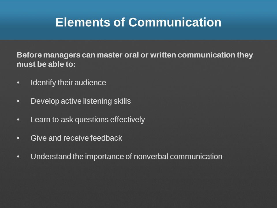 key elements of interpersonal communication Effective interpersonal  communication  a handbook  for health care providers   interactions, it can help to keep in mind some key elements of effective ipc.