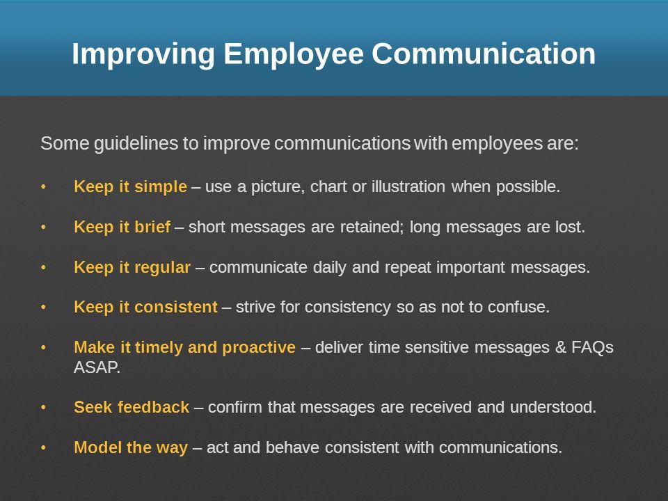 Improving Employee Communication
