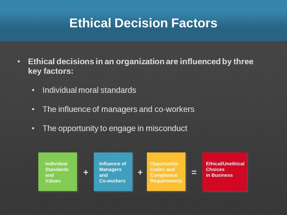 Ethical Decision Factors