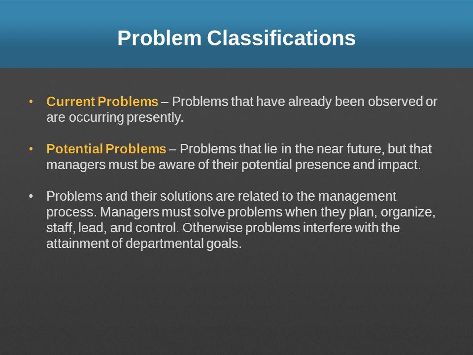 Problem Classifications