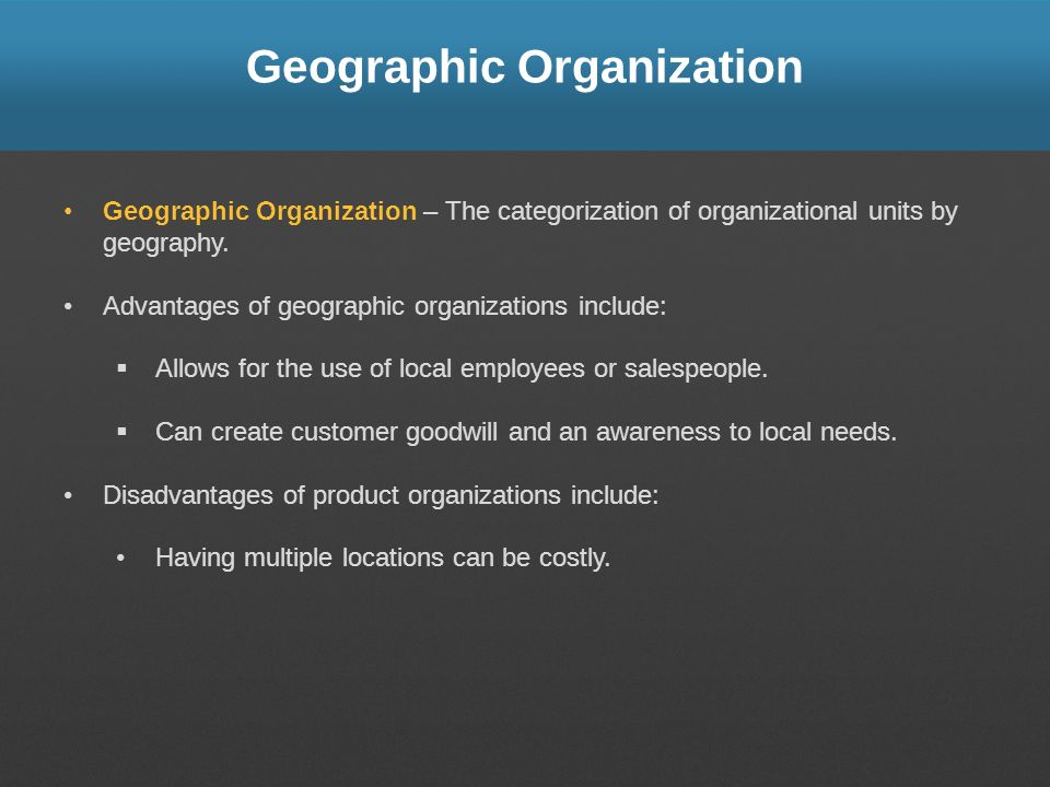 Geographic Organization