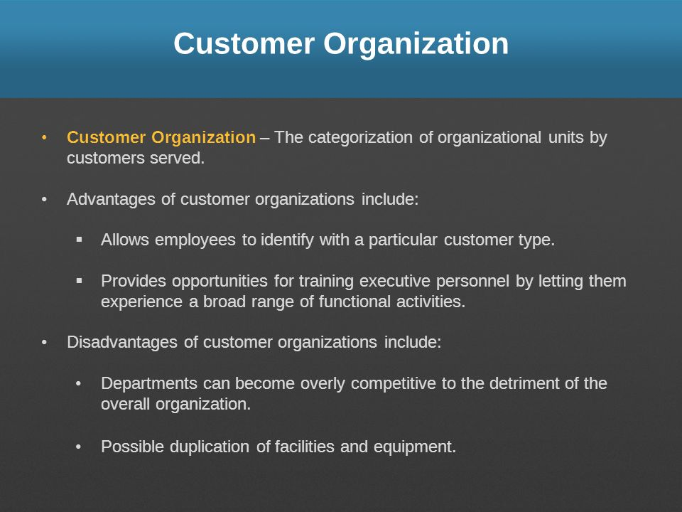 Customer Organization