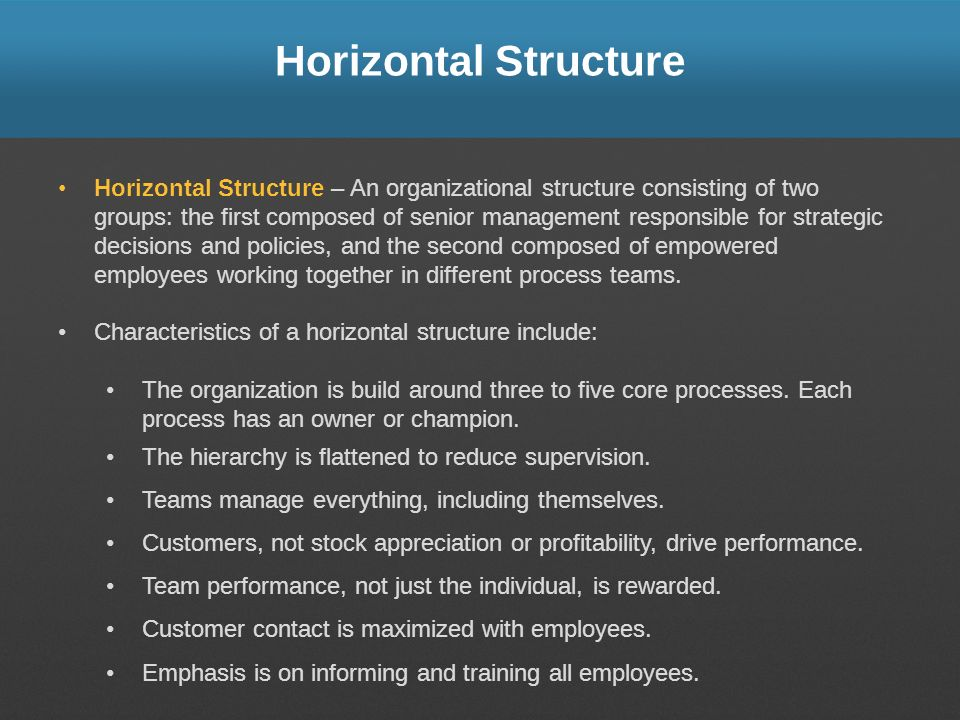 Horizontal Structure