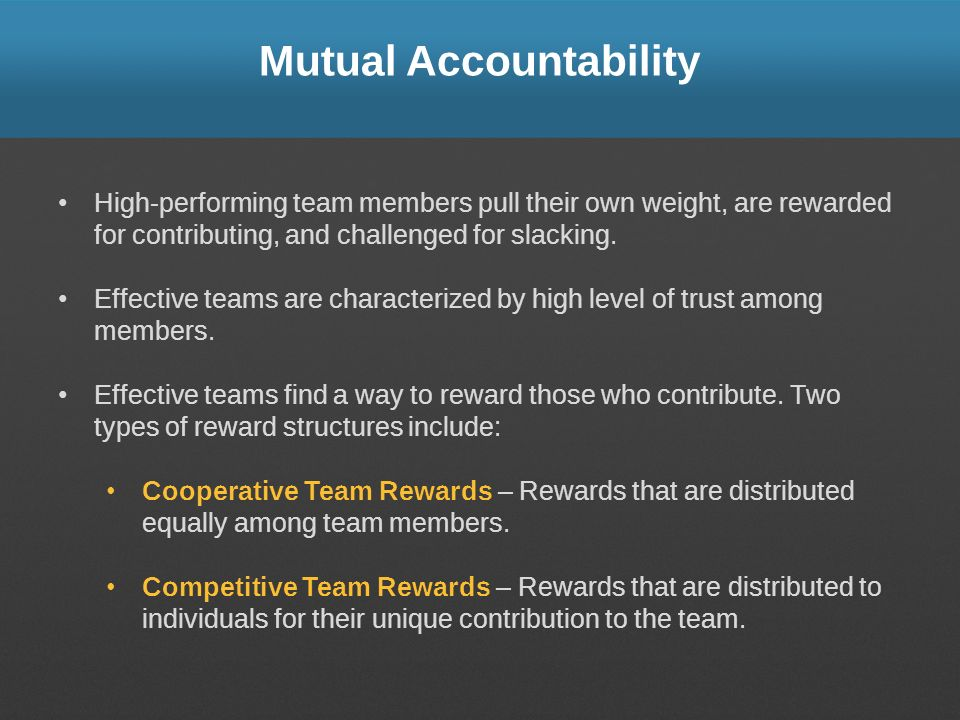 Mutual Accountability