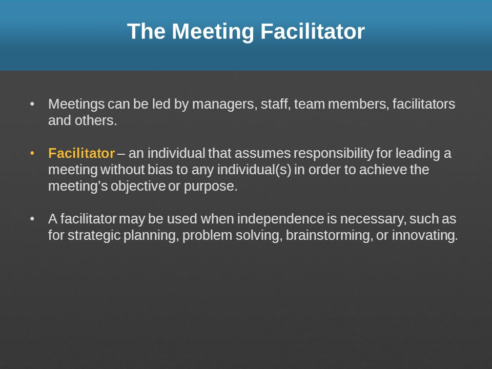 The Meeting Facilitator