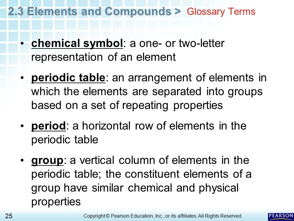 chemical symbol: a one- or two-letter representation of an element