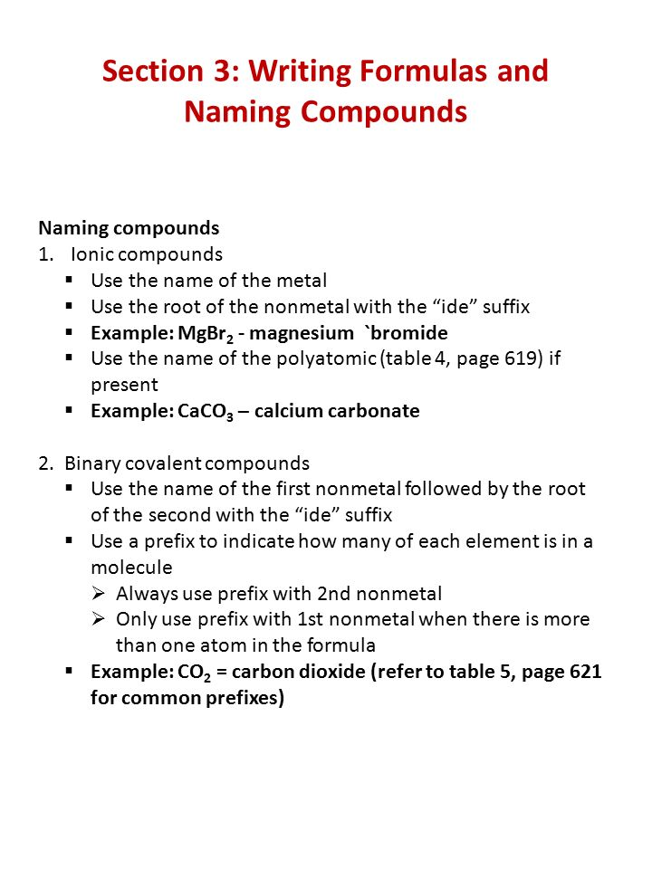 Chemical Compounds Practice Quiz