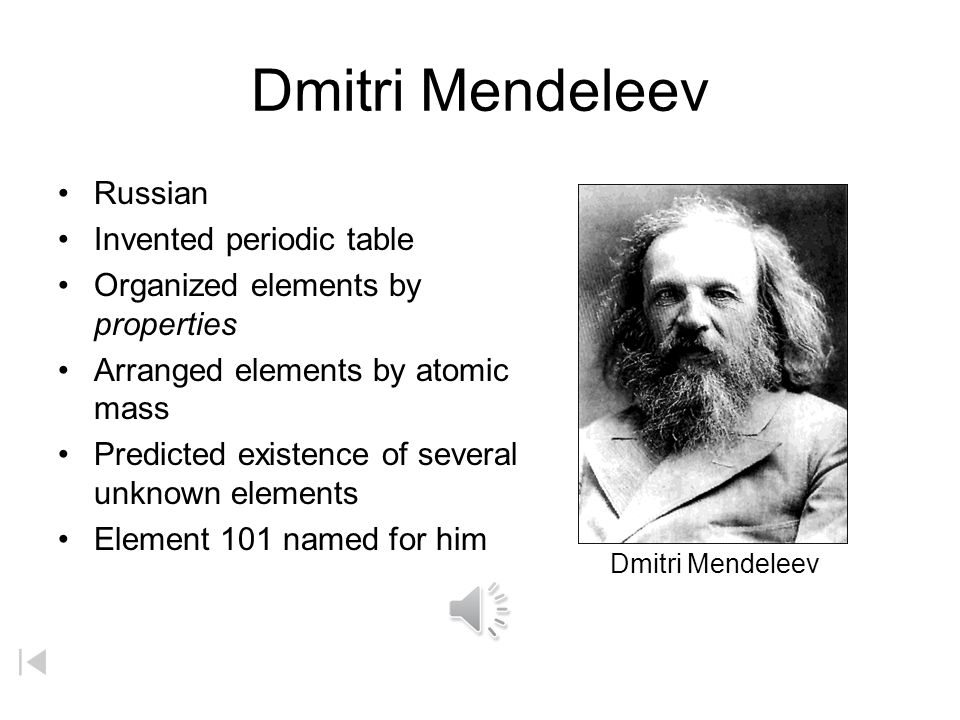 The most fundamental concept in ppt video online download dmitri mendeleev russian invented periodic table urtaz Choice Image