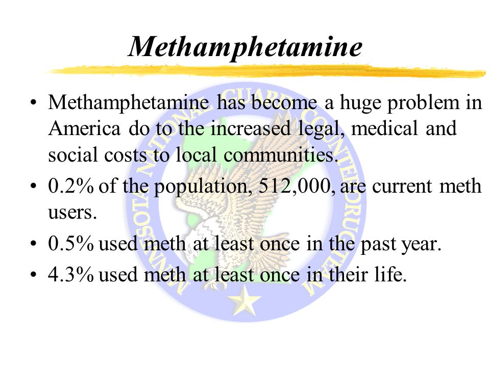 methamphetamine in america Due to the psychological and stimulant effects of methamphetamine, obetrol became a popular diet pill in america in the 1950s and 1960s eventually, as the addictive properties of the drug became known, governments began to strictly regulate the production and distribution of methamphetamine [144].