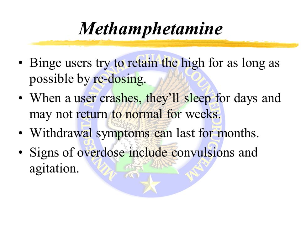 methamphetamine and americas withdrawal symptoms essay Learn the symptoms of crystal meth withdrawal, how long they last, and what factors can affect the symptoms.