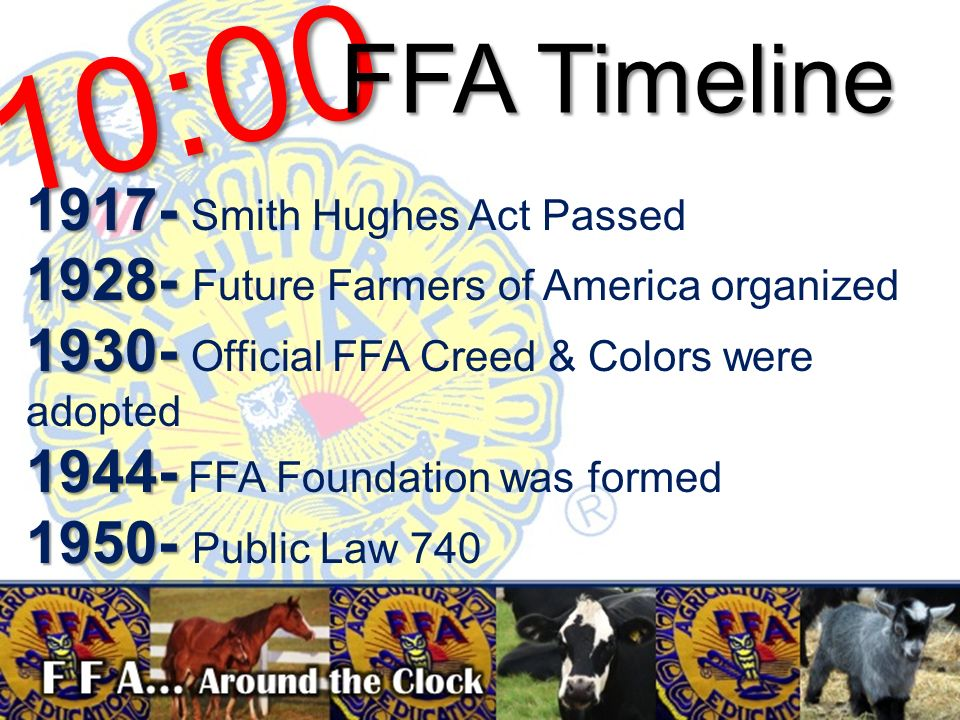 Animal Science Ffa Around The Clock Ppt Download