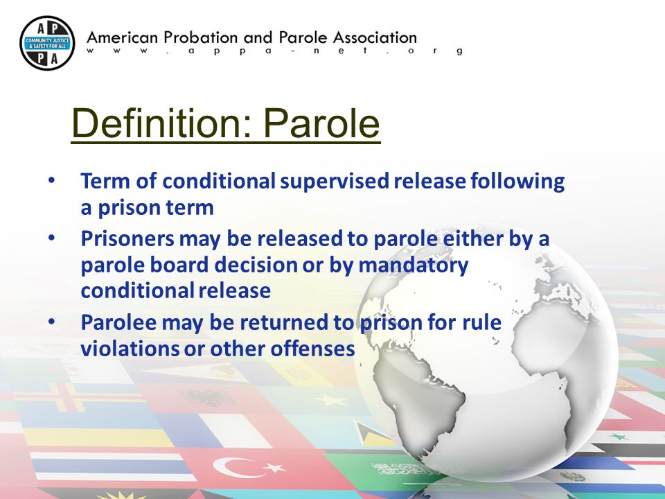 parole and mandatory release essay § 531-159 mandatory release on parole every person who is sentenced and committed under the laws of the commonwealth to the department of corrections or as provided for in §§ 192-3081, 531-152 or § 531-153 shall be released on parole by the virginia parole board six months prior to his date of final release.