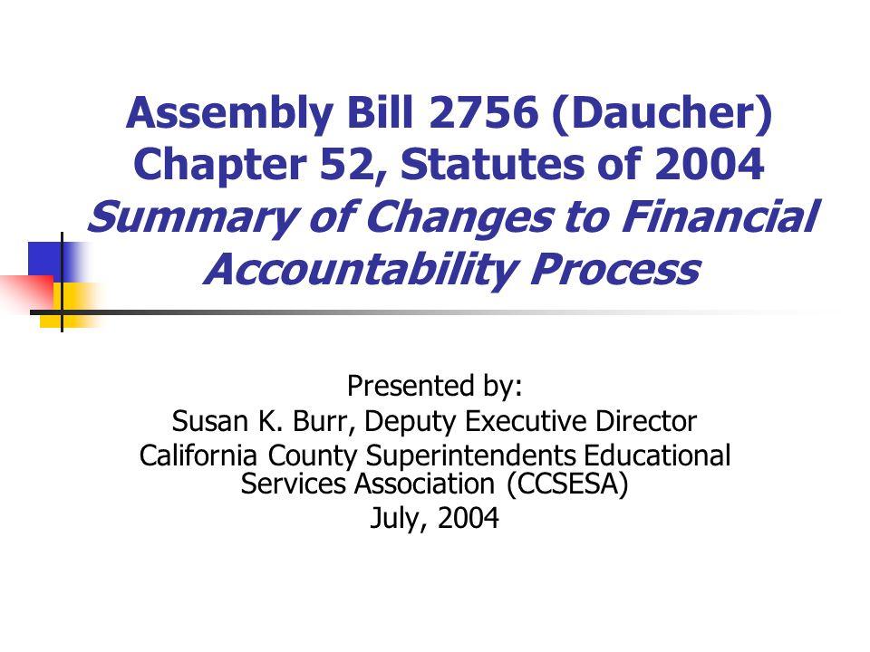Susan K. Burr, Deputy Executive Director