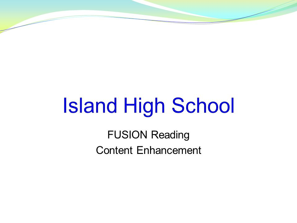 FUSION Reading Content Enhancement