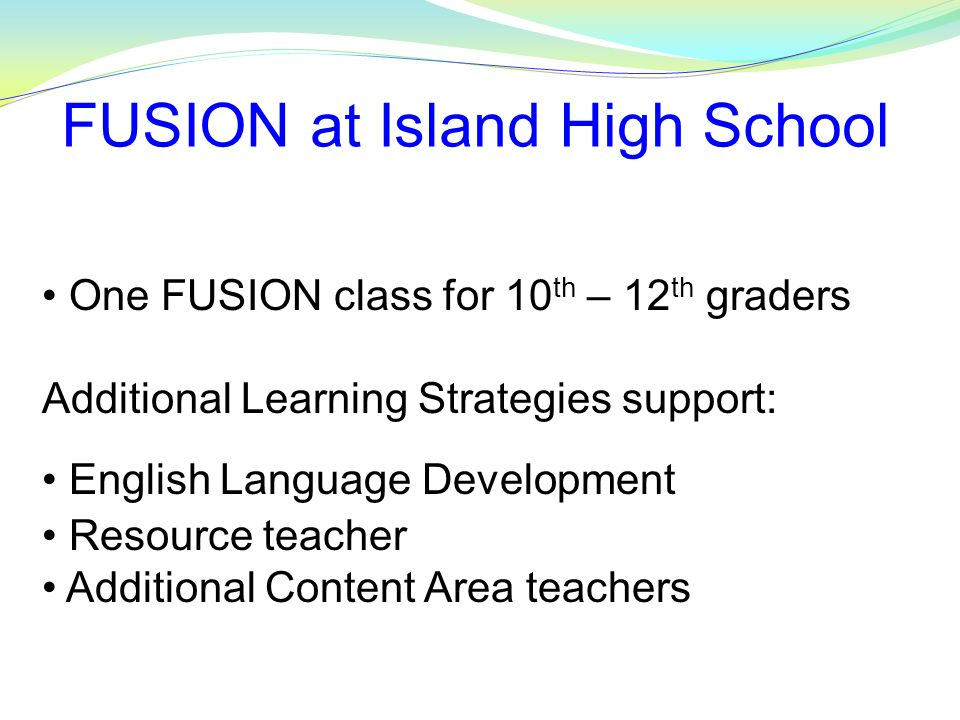 FUSION at Island High School