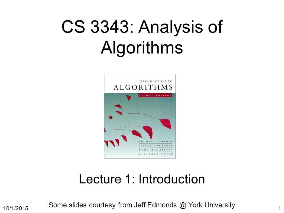 CS 3343 Analysis Of Algorithms Ppt Video Online Download
