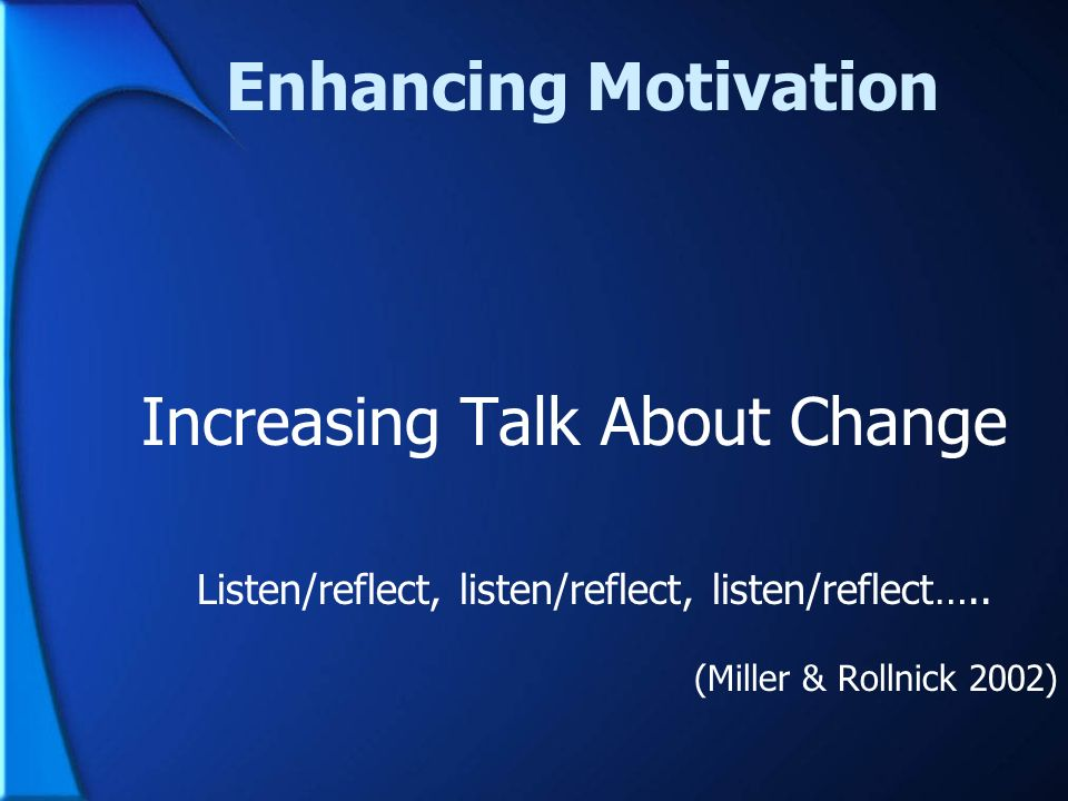 Increasing Talk About Change