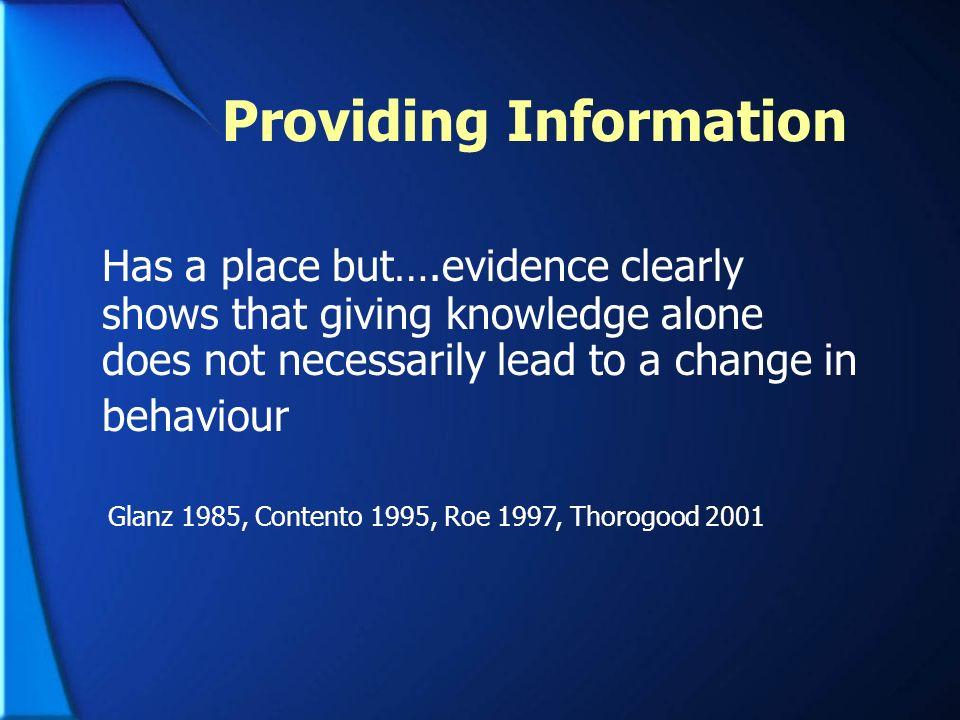 Providing Information