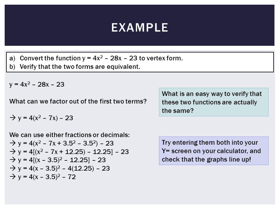 Convert To Vertex Form Calculator Bruceianwilliams