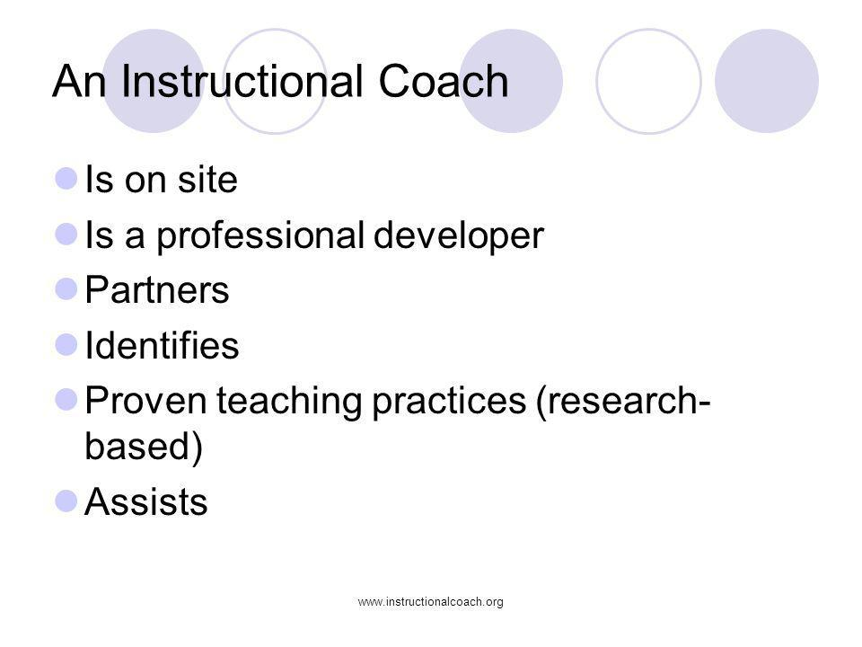 An Instructional Coach