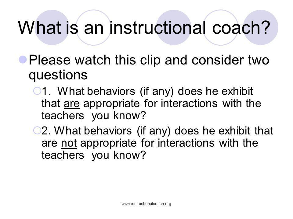 What is an instructional coach