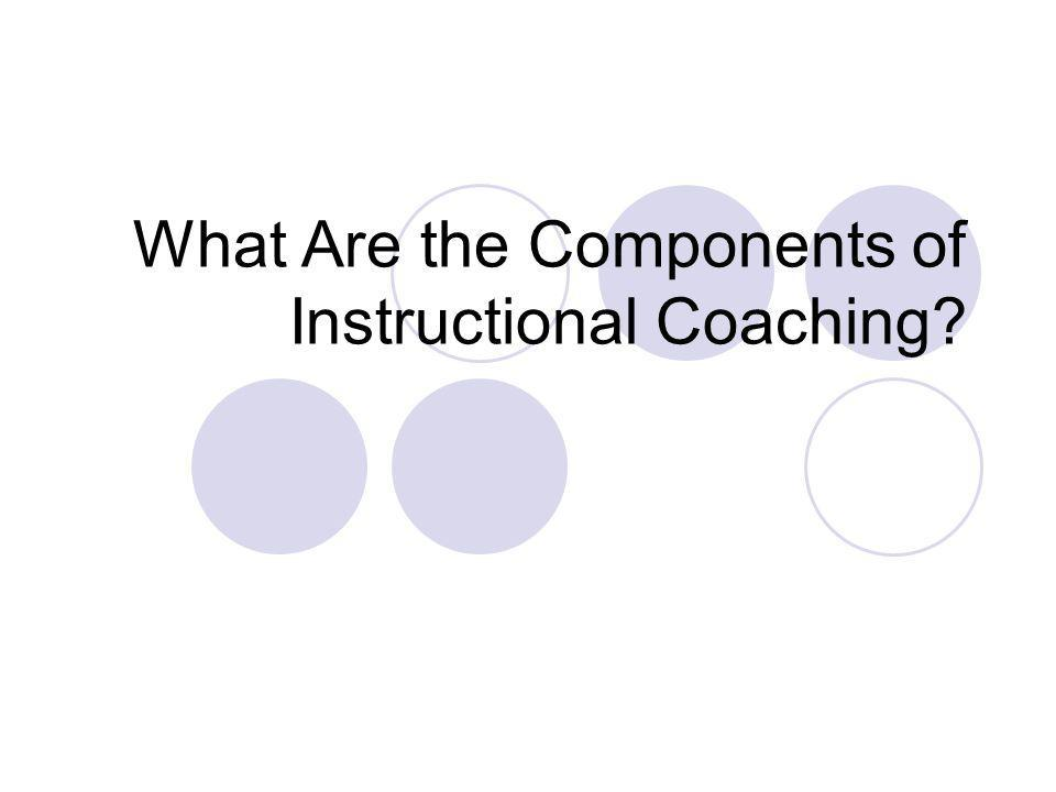 What Are the Components of Instructional Coaching