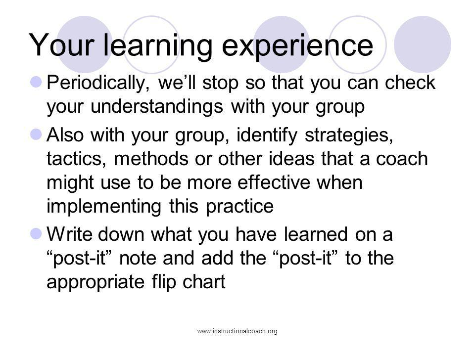 Your learning experience