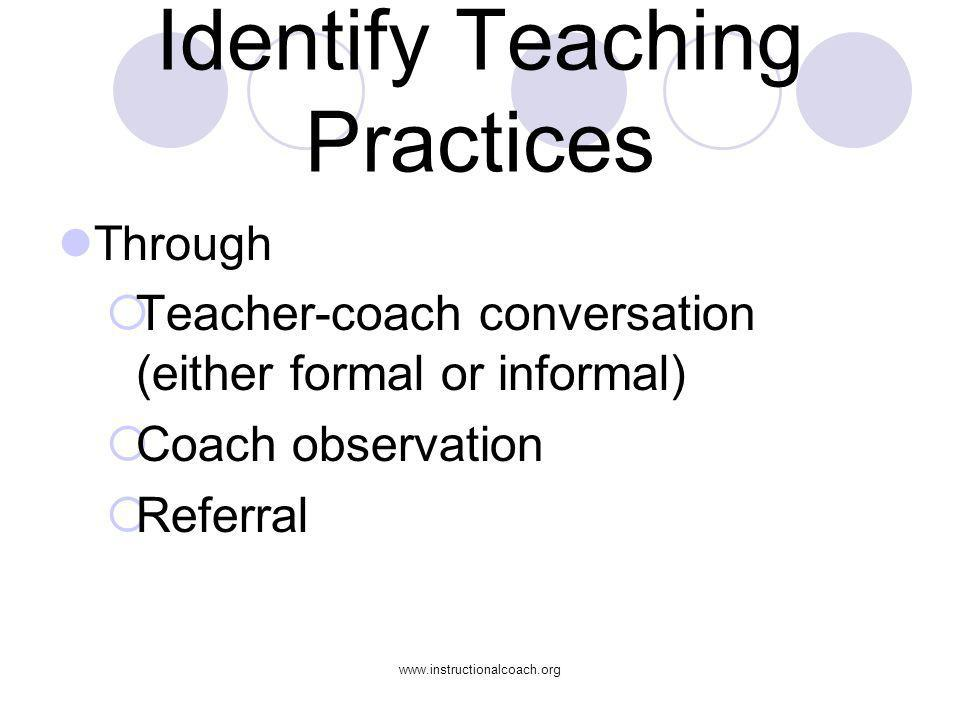 Identify Teaching Practices
