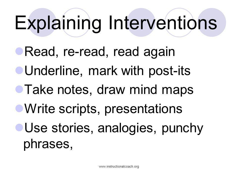 Explaining Interventions