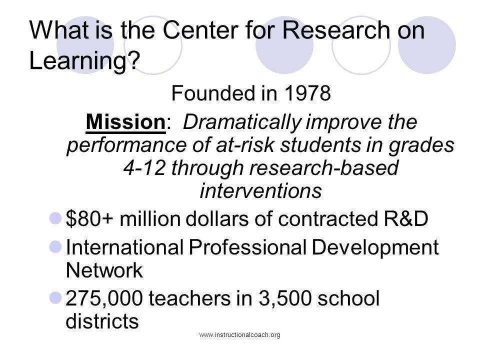 What is the Center for Research on Learning