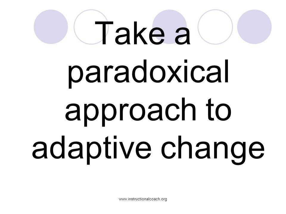 Take a paradoxical approach to adaptive change