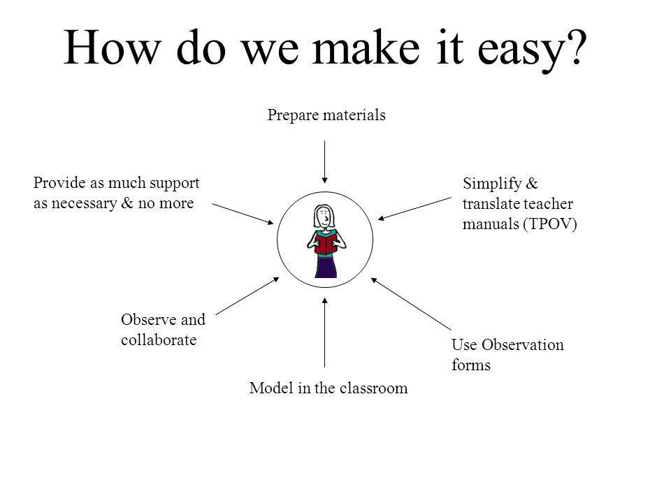 How do we make it easy Prepare materials