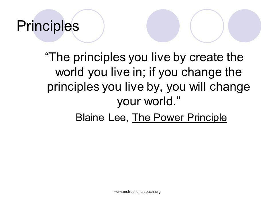 Blaine Lee, The Power Principle