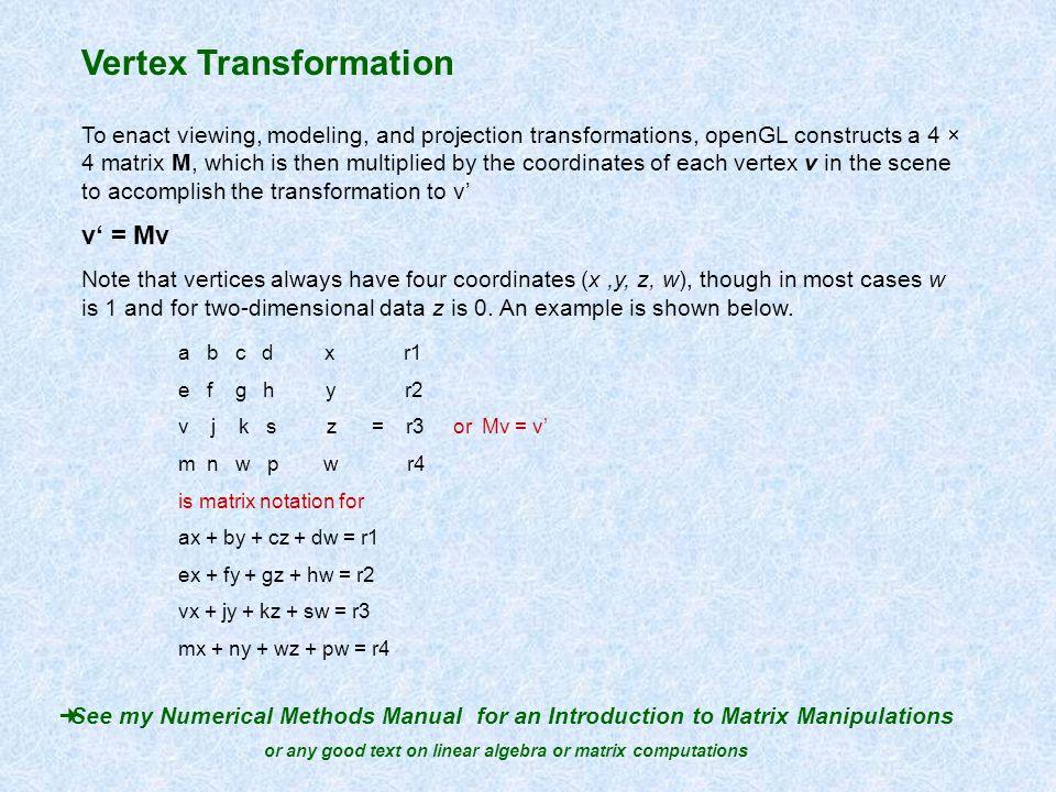 or any good text on linear algebra or matrix computations