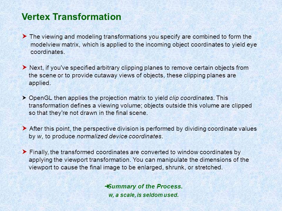 Vertex Transformation