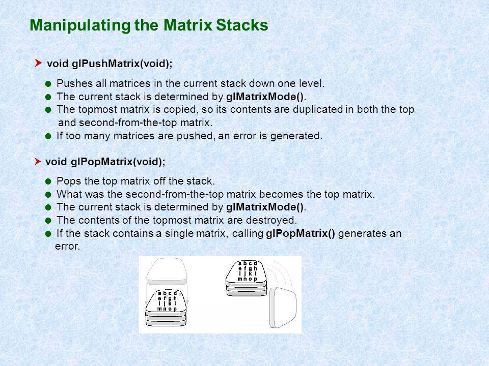 Manipulating the Matrix Stacks