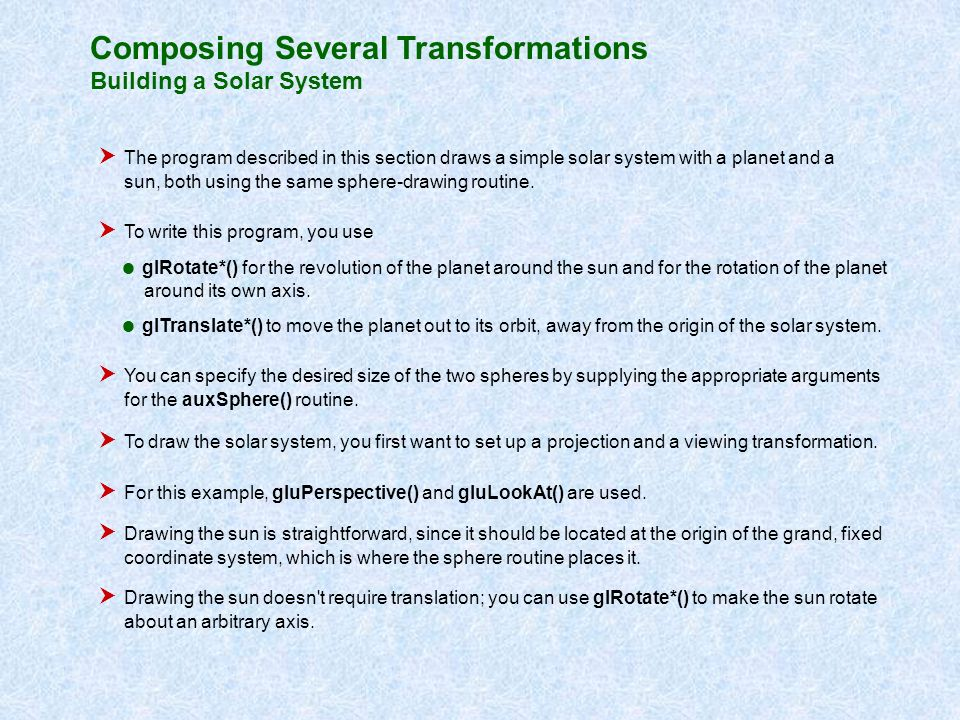 Composing Several Transformations