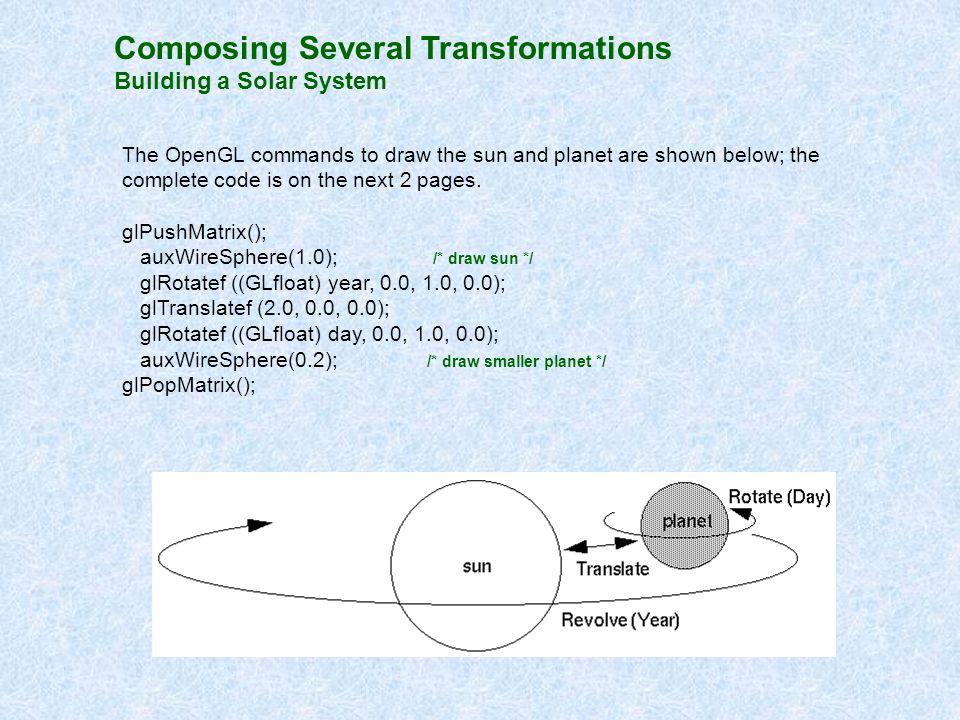 Composing Several Transformations