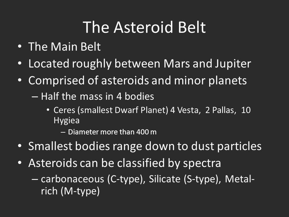 The Asteroid Belt The Main Belt