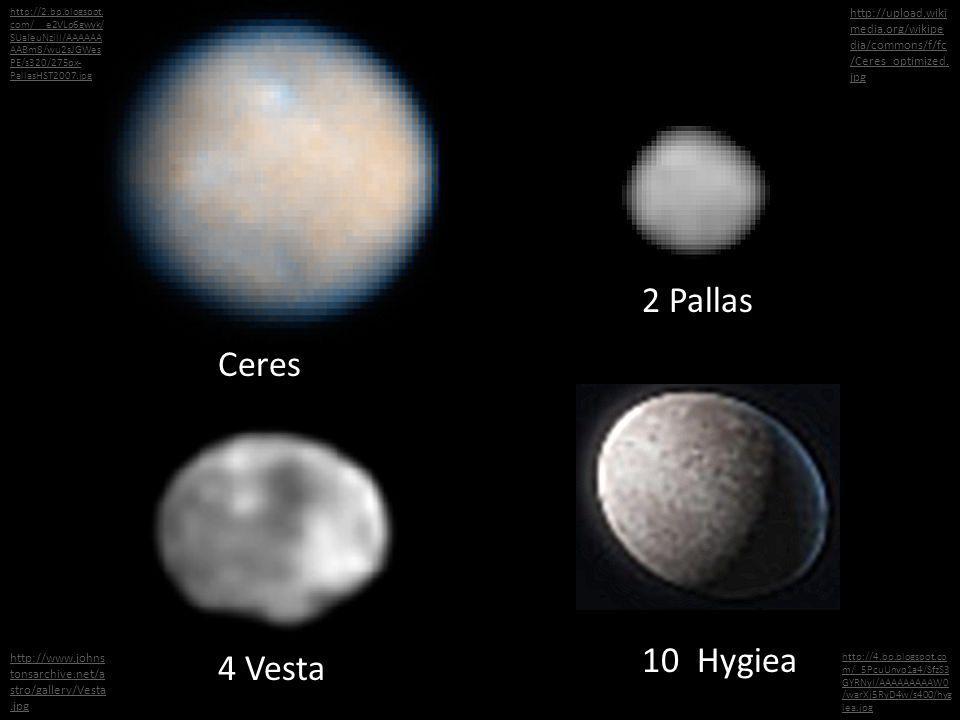 2 Pallas Ceres 10 Hygiea 4 Vesta