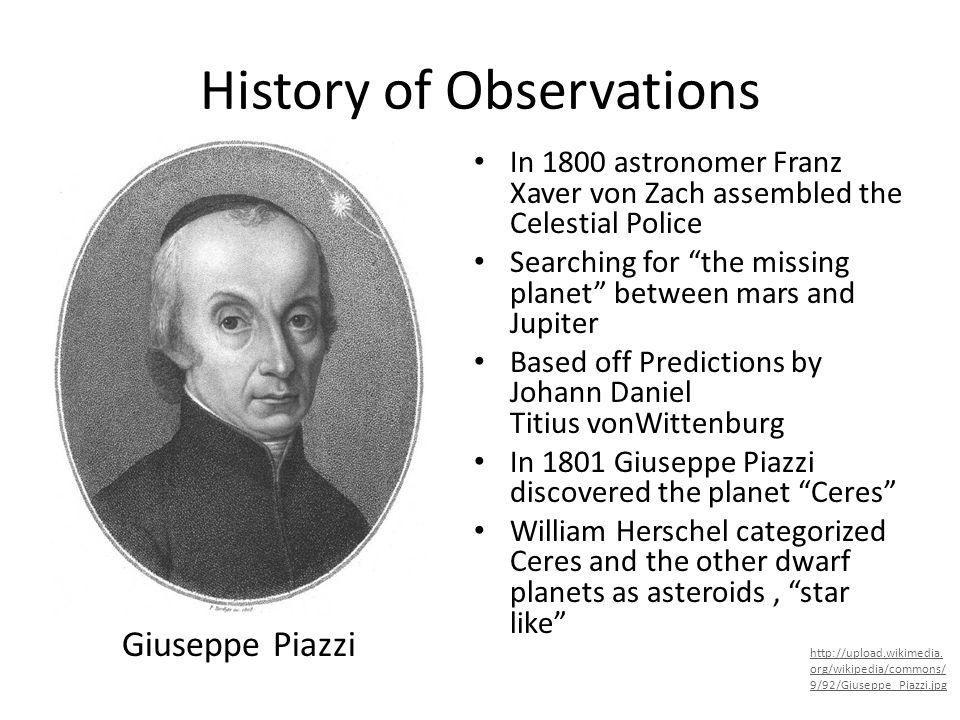 History of Observations