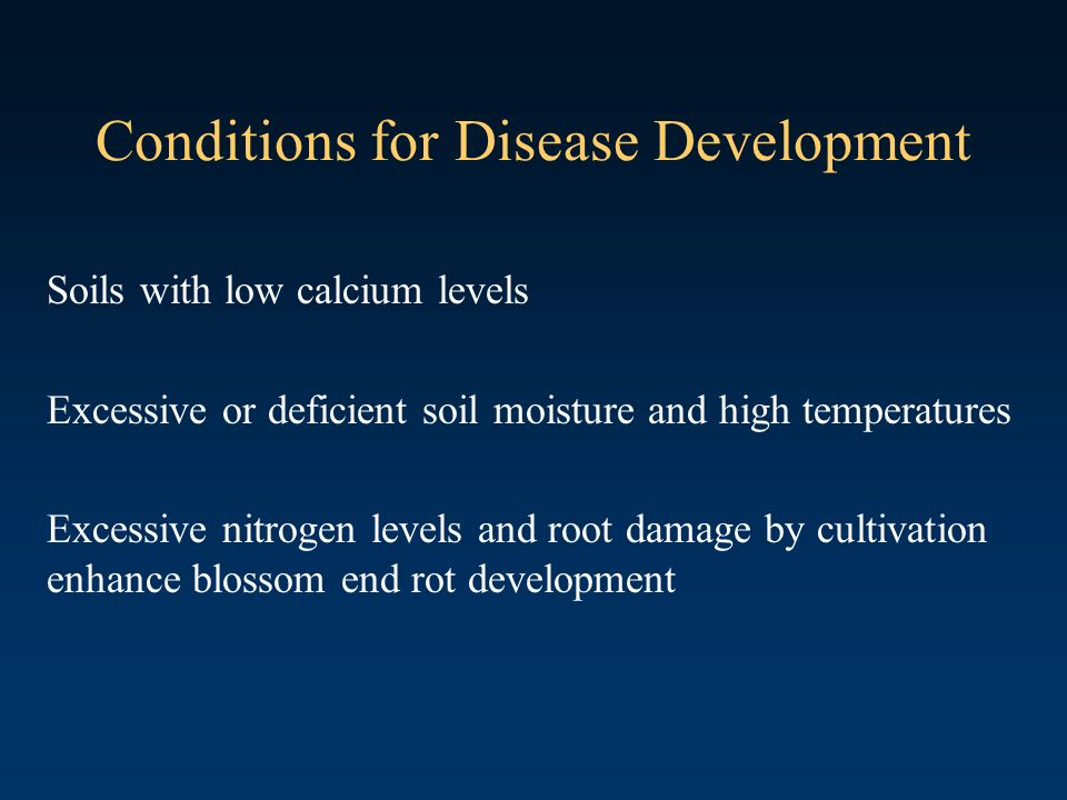 Conditions for Disease Development