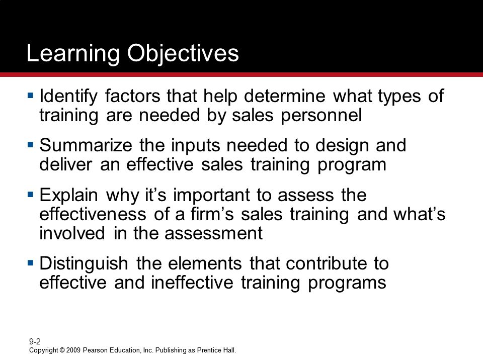 Training And Developing The Sales Force - Ppt Video Online Download