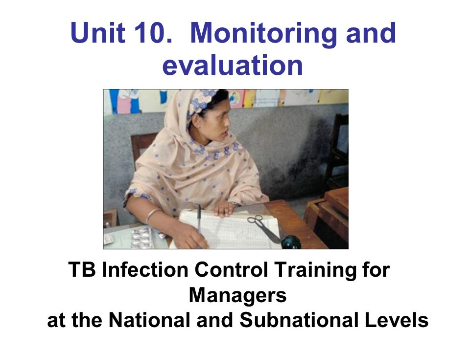 Unit 10. Monitoring and evaluation