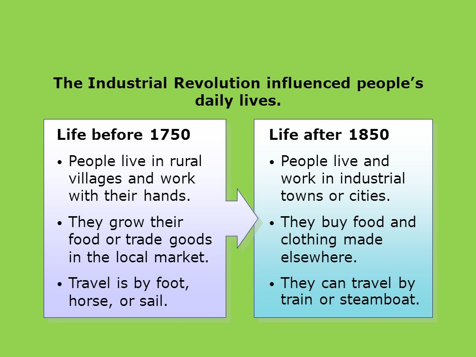 everyday life in the industrial revolution Simply, the working conditions were terrible during the industrial revolution as  factories were being built, businesses were in need of workers with a long line.