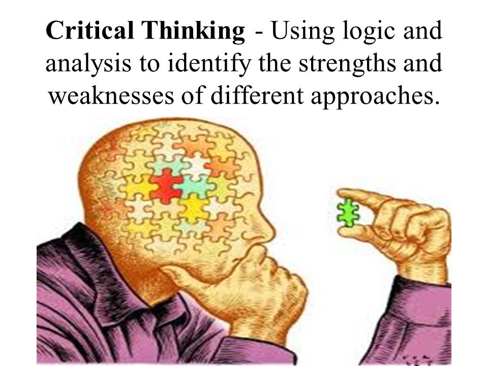 strengths of logical thinking 1) as mentioned above in my strengths that i try to achieve the goal which i had determined but if i didn't get it i feel disheartened and it takes a lot of time for me to recover from that loss 2) i have a lack of confidence and i am hesitant i hesitate to put forward my opinions in a crowd as i start thinking of whether i am right or wrong.