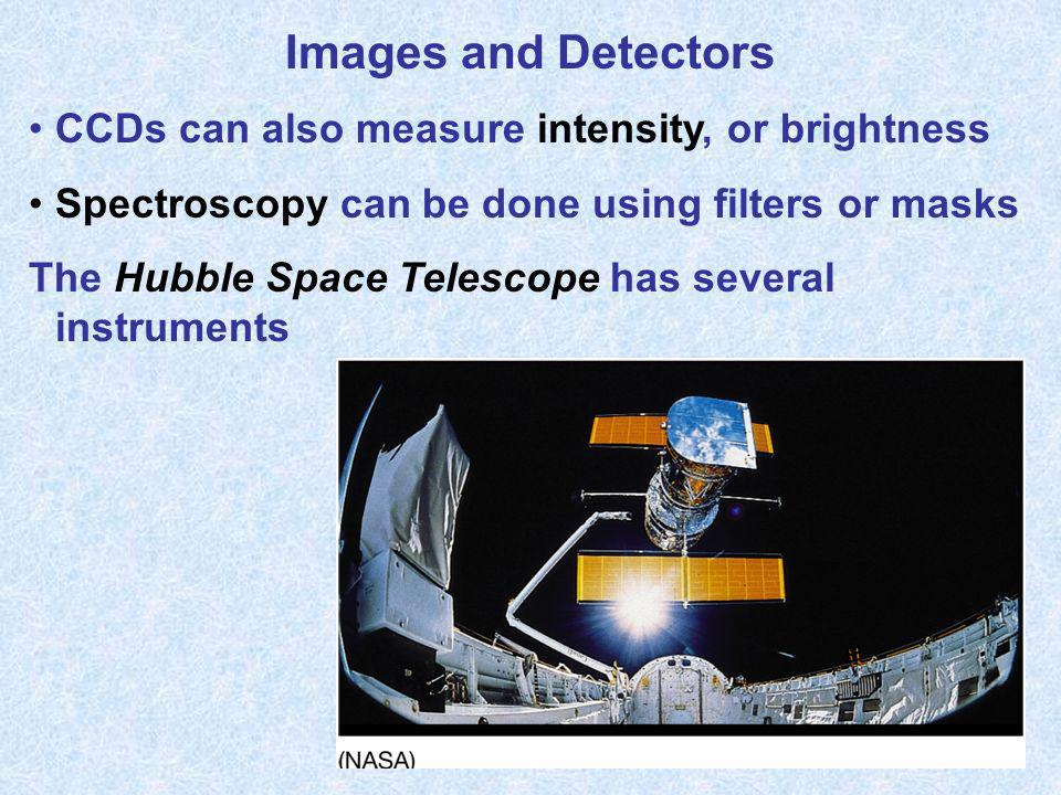 Images and Detectors CCDs can also measure intensity, or brightness