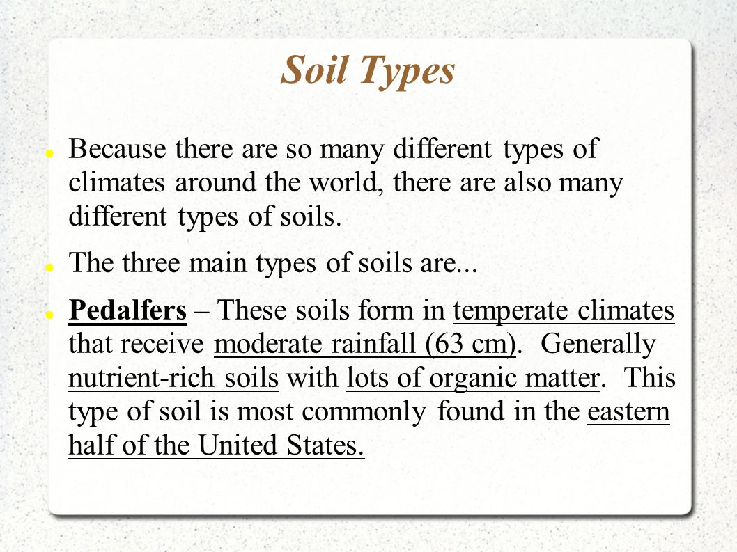 different types of soil essay So, it is very important to know different types of pollutions, their  soil pollution  occurs when the presence of pollutants, contaminants, and.