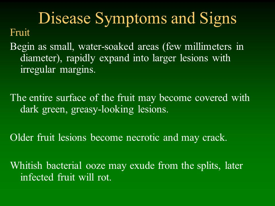 Disease Symptoms and Signs