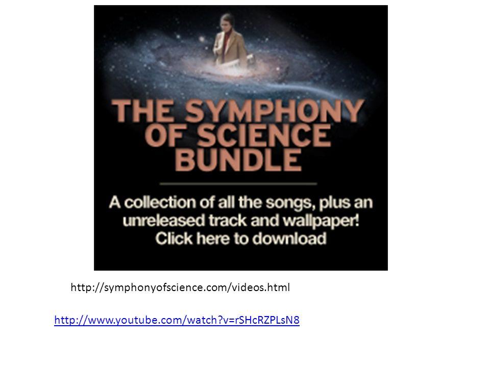 http://symphonyofscience.com/videos.html http://www.youtube.com/watch v=rSHcRZPLsN8